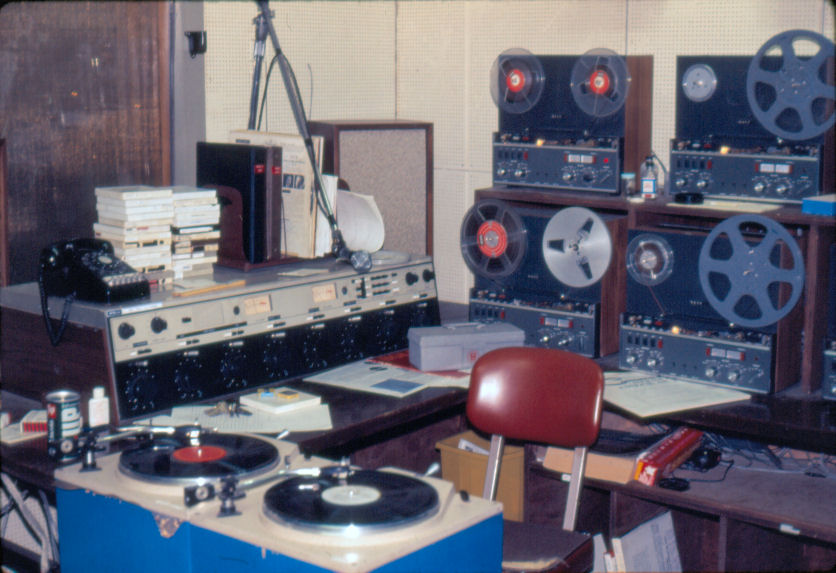 KDFC Air Studio with McMartin B802 and Revox A77 Tape Machines