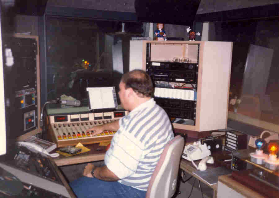 Dennis Foote in the KKHI Production Room Circa 1988