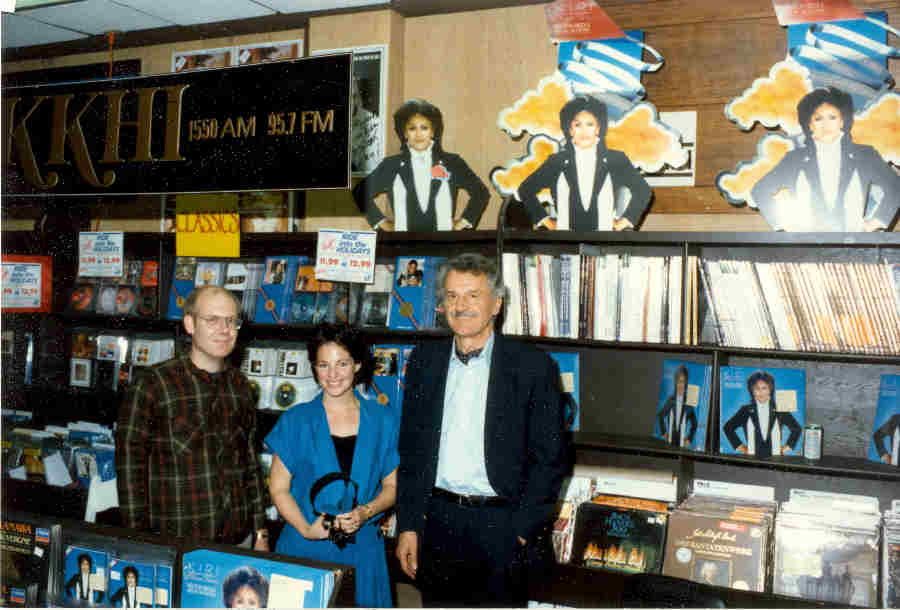 Dave Wigfield, Dianne Nicholini and Keith Lockhart at Tower Records in San Francisco for Kiri Te Kanawa Record Release