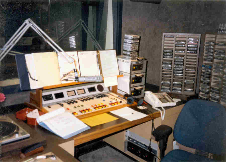 KKHI Air Studio with Pacific Recorders BMX12 audio console