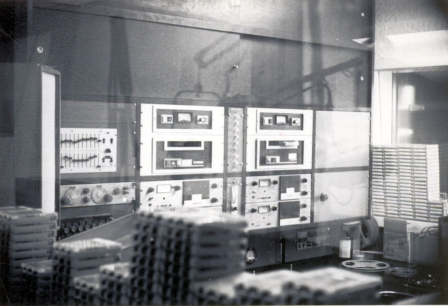 KYA Production Room Showing Gates Criterion Cart Machines and Heathkit IG18 Audio Generator